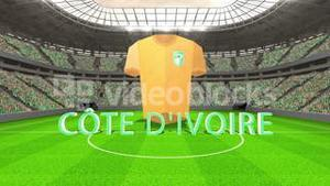Ivory coast world cup message with jersey and text