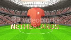 Netherlands world cup message with jersey and text