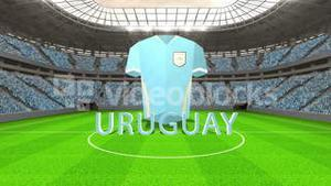 Uruguay world cup message with jersey and text