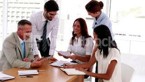 Business people sealing a deal during meeting