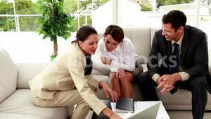Business people having a meeting in staff room