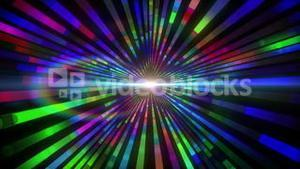 Colourful vortex design with lights
