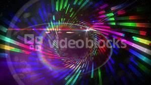 Vortex pattern with glowing lights