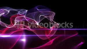 Purple abstract waves on black background