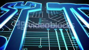 Blue tools on circuit board design