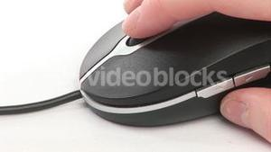 A woman using a Mouse