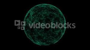Green technology sphere connectivity animation