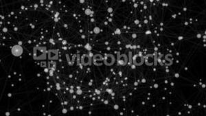 White technology connectivity animation with dots