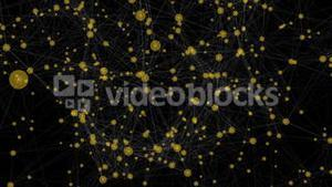 Yellow technology connectivity animation with dots