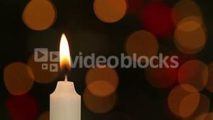 Candle flickering and going out