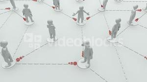 Animation representing a group of 3d men