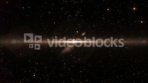 Shooting golden stars on black background