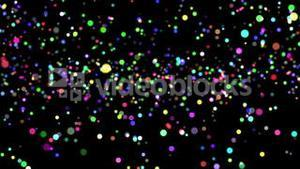 Colourful glittering light on black