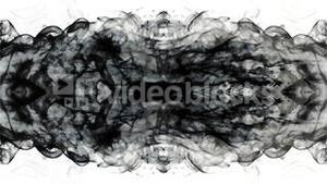 Black ink swirling into water mirror image