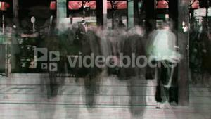 Abstract crowd walking 3