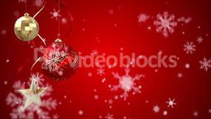 Seamless christmas scene with copy space and decorations