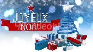 Seamless christmas scene with greeting in french