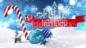 Seamless christmas scene with greeting in spanish