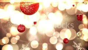 Seamless christmas decorations falling on gold