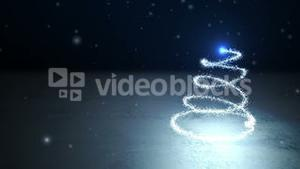 Seamless shooting star forming christmas tree and message in italian