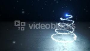 Seamless shooting star forming christmas tree and message in spanish