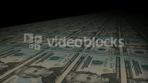 Stock Animation of Dollars in Motion