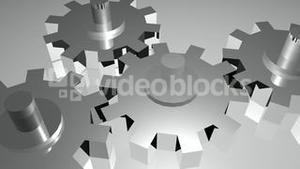 Stock Animation of Cogs and Gears in Motion