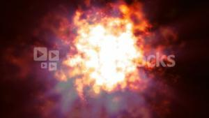 CGI of Abstract burning fire