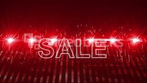 Red laser show with sale text