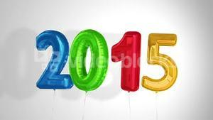 Balloons saying 2015 for the new year