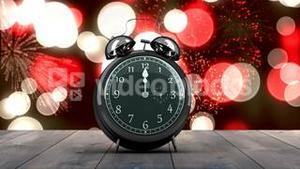 Alarm clock counting down to midnight for new year