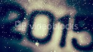 2015 with falling snow