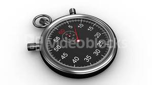 Stopwatch timing on white background