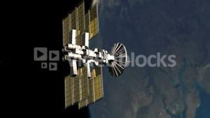 3D animation showing satellite turning around the earth