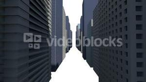 Cityscape on white background