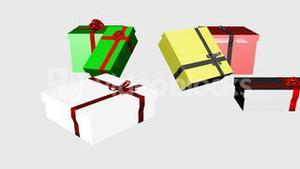 3D Falling Christmas Presents 4