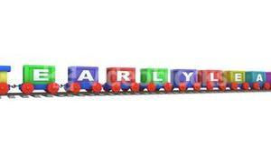 Animation of a 3d train carrying early learning letters
