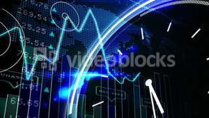 Blue stocks and shares technology screen