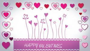 Valentines day vector with heart flowers