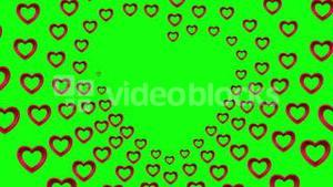 Valentines day vector with heart pattern on green background