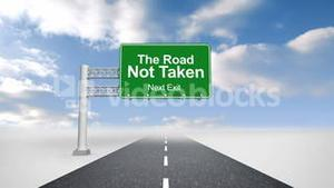 The road not take over open road