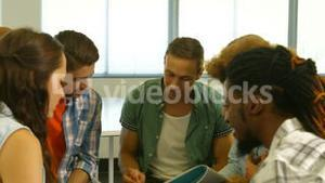 Students having a meeting together