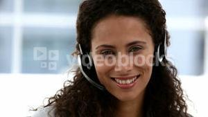 Woman in a conference calling