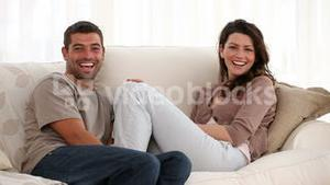 Couple talking with each other