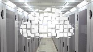 Cloud computing graphic in data centre