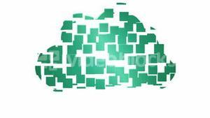 Cloud computing graphic on white background