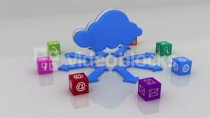 Cloud with computer application cubes