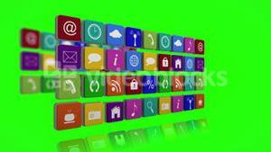 Wall of app icon tiles