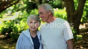 Elderly couple looking at the way ahead