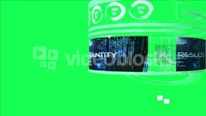Computing security interface on green background